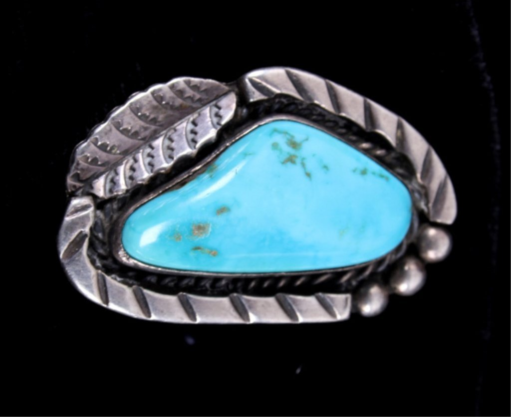 Navajo Sleeping Beauty Turquoise & Silver Ring