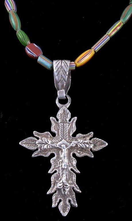 Northern Plains French Canadian Silver Cross