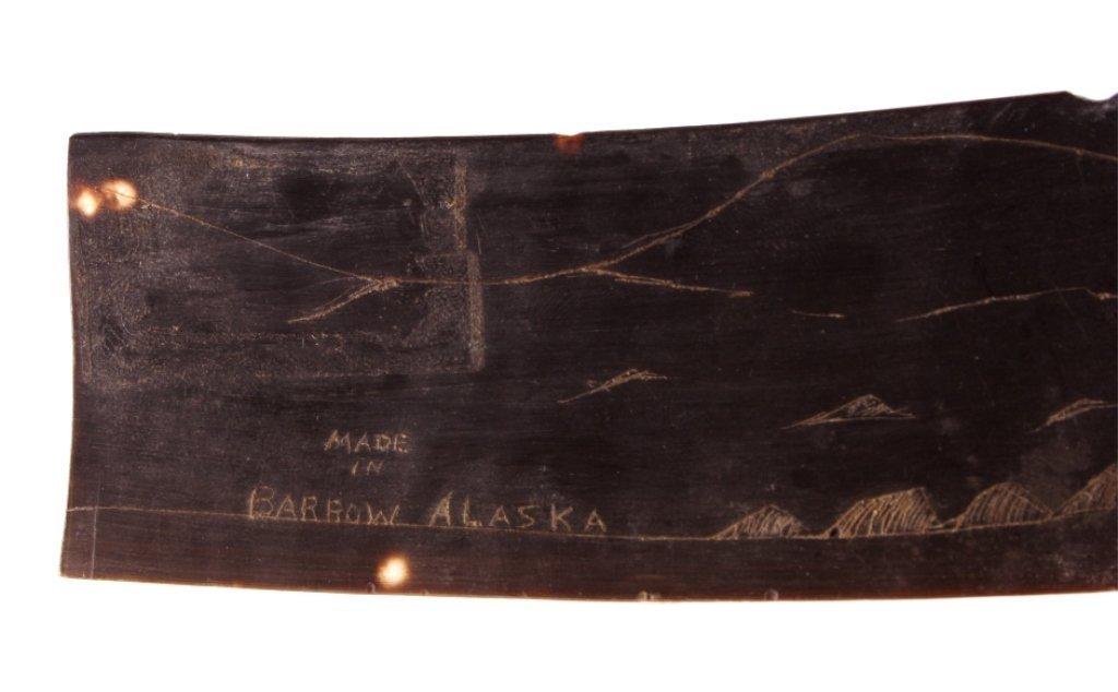 Alaskan Whale Baleen Scrimshaw - 3