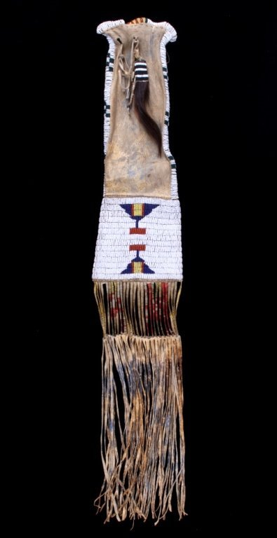 Cheyenne Quill & Beaded Tobacco Pipe Bag c. 1850