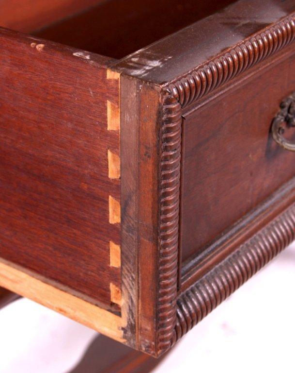 Antique 1920's Walnut China Cabinet - 7