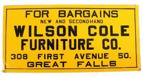 Wilson Cole Furniture Great Falls Montana Sign