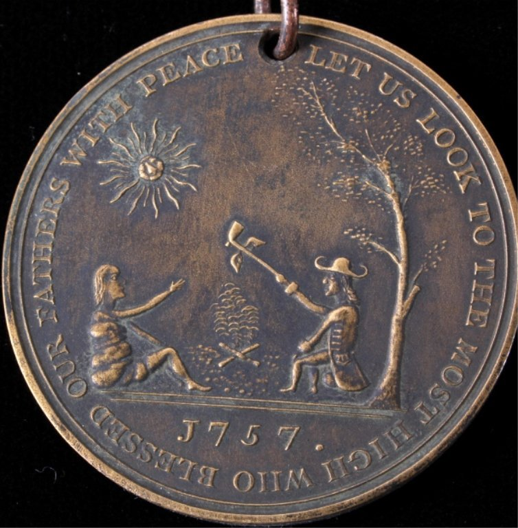 Treaty of Easton Indian Peace Medal 1787 - 6