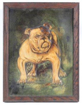 John W. Merriam Bulldog Cigar Embossed Advertising