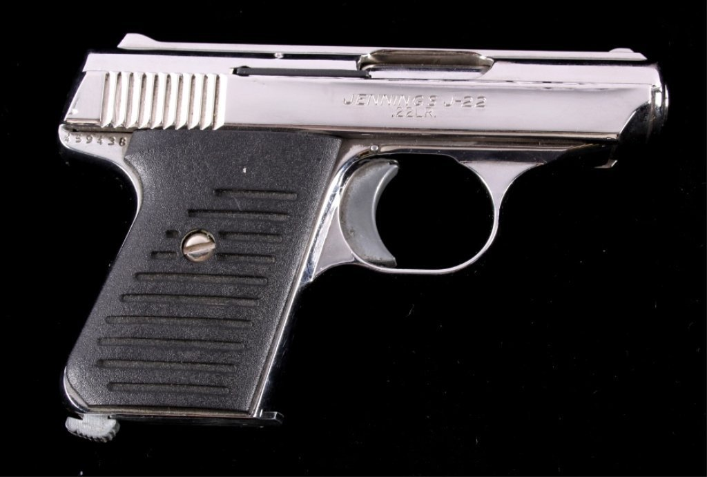 Bryco Jennings J-22 .22LR Pistol Nickel Finish