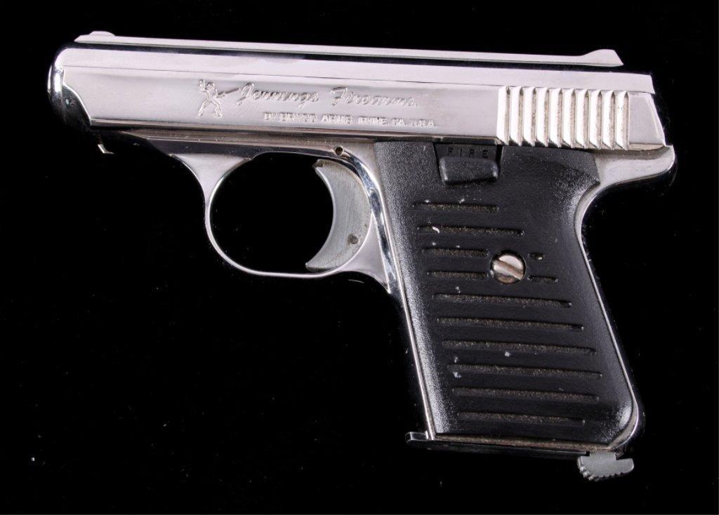 Bryco Jennings J-22 .22LR Pistol Nickel Finish - 2