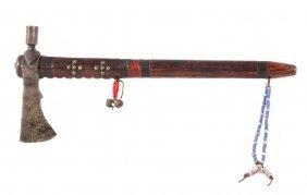 Lakota Sioux Pipe Tomahawk C. 1860 With Coa