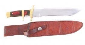 Cascade Custom Bowie Knife With Sheath