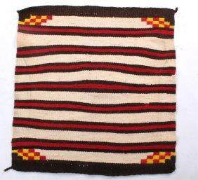 Navajo Chief Pattern Saddle Blanket C. 1900-1940