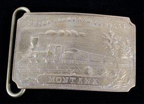 Wells Fargo Montana Tiffany Studio Brass Buckle