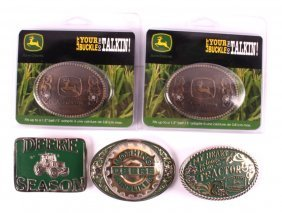 Mt Silversmiths John Deere Belt Buckle Collection