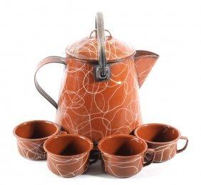 Montana Cowboy Brown Splatterware Coffee Pot