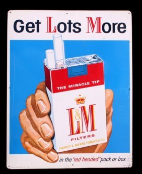 L & M Cigarettes Advertising Sign