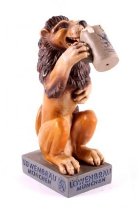 Lowenbrau Lion Figure