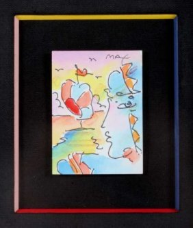 Peter Max Original Painting Profile & Sailboat