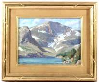 Glacier Lake Original Oil by Tim Shinabarger