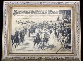 Buffalo Bill Wild West Show Flyer Poster French