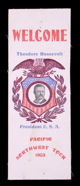 Theodore Roosevelt Pacific Northwest Tour Ribbon