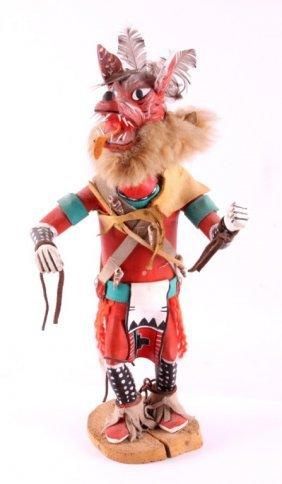Hopi Wolf Kachina Carved Figure