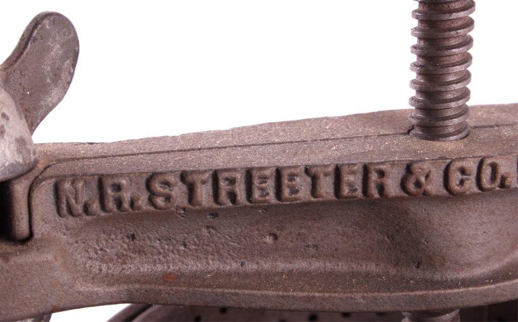 Antique Cast Iron Streeter Fruit Lard Press - 3