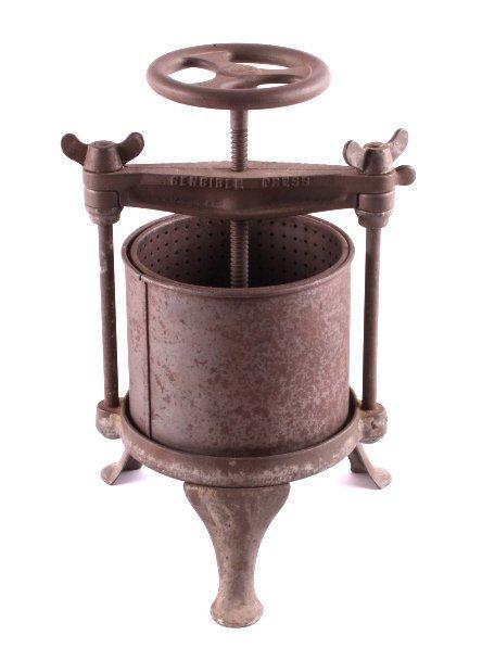 Antique Cast Iron Streeter Fruit Lard Press - 5