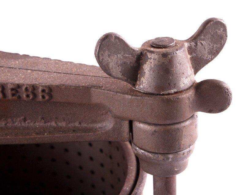 Antique Cast Iron Streeter Fruit Lard Press - 9