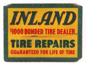 Original 1940's Inland Tire Sign