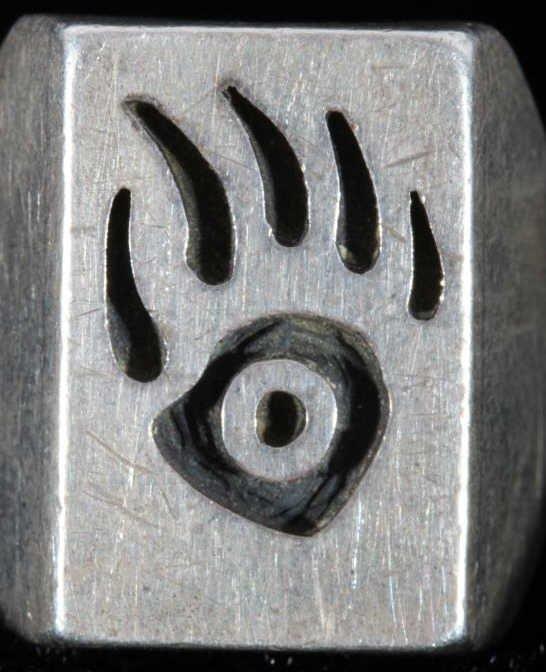 Hopi Bear Claw Silver Rings by Phil Sekaquaptewa - 3