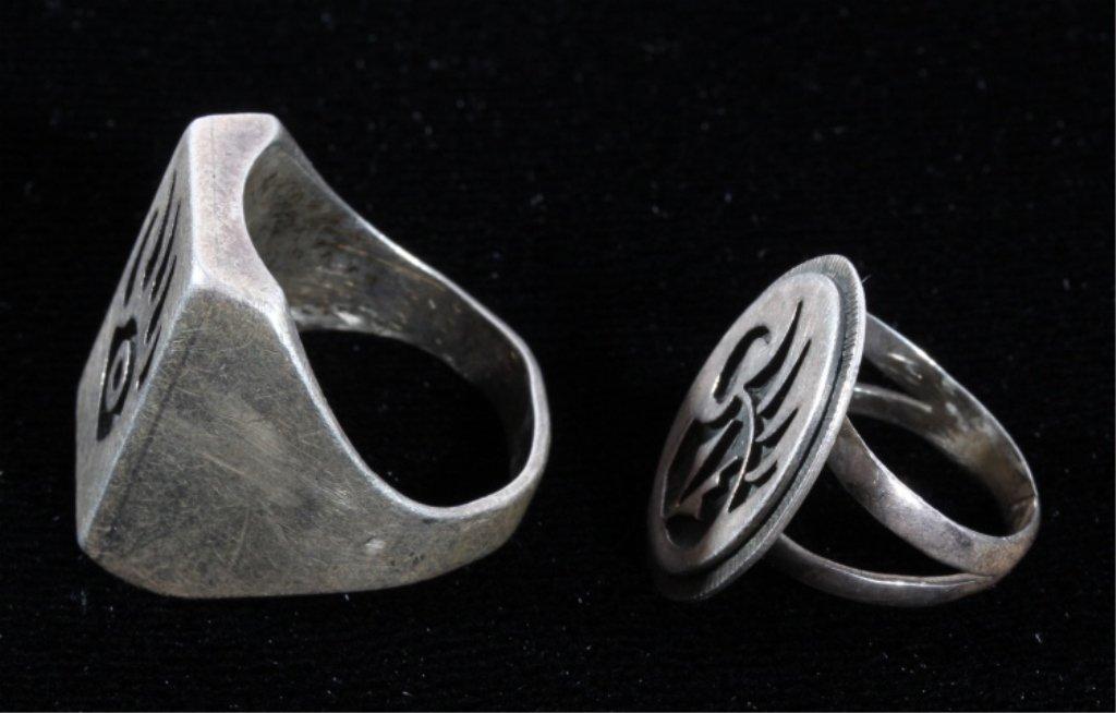 Hopi Bear Claw Silver Rings by Phil Sekaquaptewa - 5