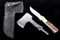 Gerome Weinand Elk Horn Knife  Hatchet Lolo MT