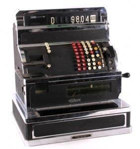 National Cash Register Black & Chrome