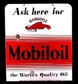 Rare Mobiloil Gargoyle Porcelain Sign c. 1930's