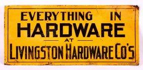 Livingston Hardware Sign From Montana