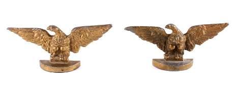 Cast Iron Eagle Bookends