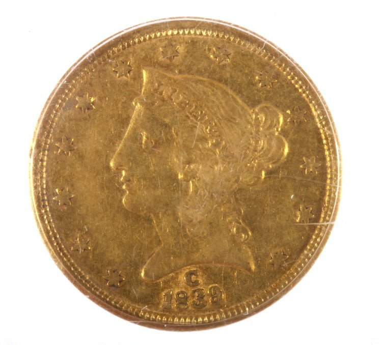 1839-C Liberty Five Dollar Gold Coin Very Fine $5