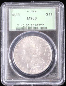1883 Morgan Silver Dollar Pcgs Ms66 High Grade