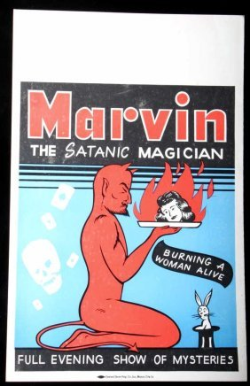Marvin The Satanic Magician Poster Butte Montana