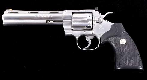 """Colt Python 357 MAG Stainless Steel 6"""" Unfired"""