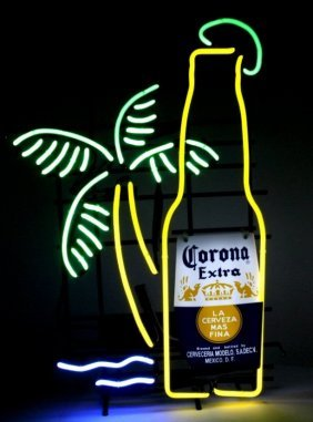 Corona Beer Neon Lighted Advertising Sign