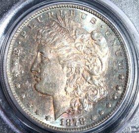 1878-s Morgan Silver Dollar Pcgs Au58 Toned