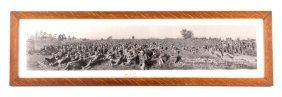 Original Wwi 1917 U.s. Troop Panoramic Photograph