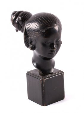 Antique Chinese Signed Bronze Bust