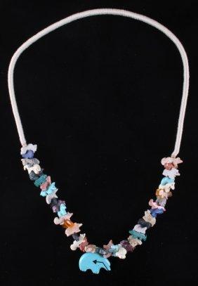 North West Coast Native American Fetish Necklace