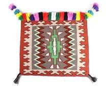 Navajo Centipede Effigy Pattern Saddle Blanket