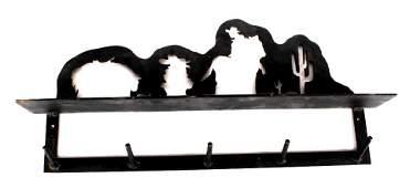Antique Cast Iron Western Style Coat Rack