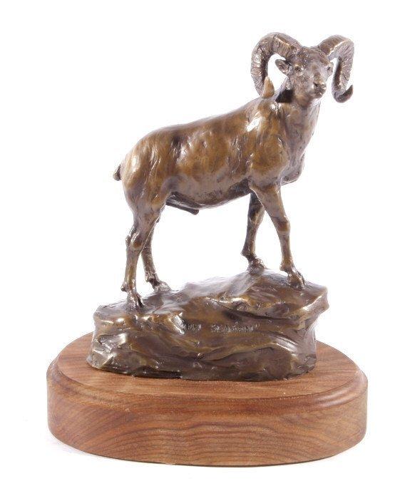 In Season Bighorn Ram Bronze by Bob Scriver