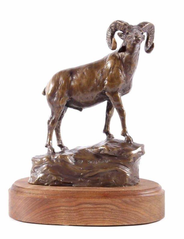 In Season Bighorn Ram Bronze by Bob Scriver - 2