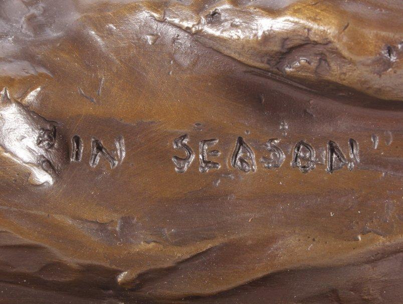 In Season Bighorn Ram Bronze by Bob Scriver - 4