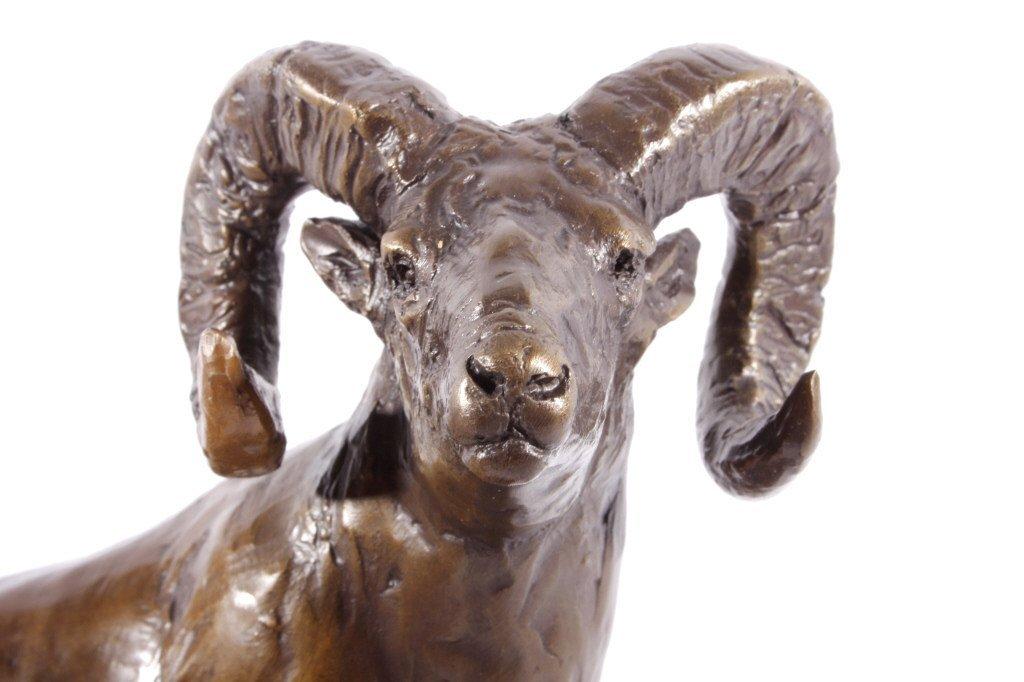 In Season Bighorn Ram Bronze by Bob Scriver - 5