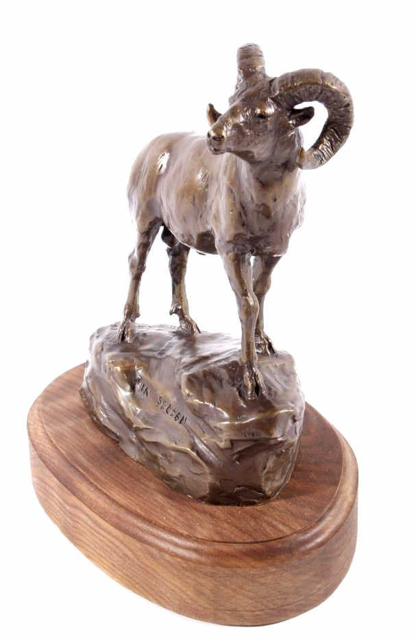 In Season Bighorn Ram Bronze by Bob Scriver - 8